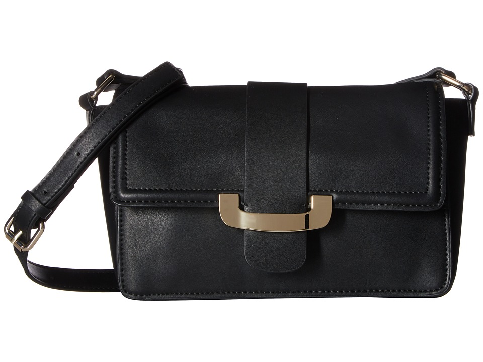 French Connection - Ellen Crossbody (Black Smooth Calf) Cross Body Handbags