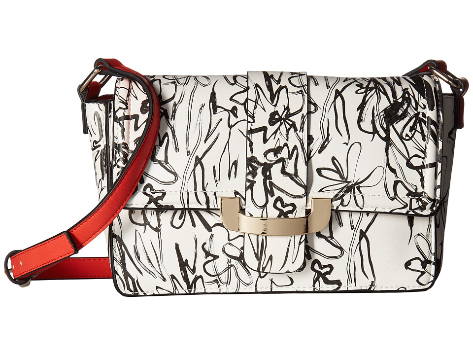 French Connection - Ellen Crossbody (Black/White Scribble) Cross Body Handbags