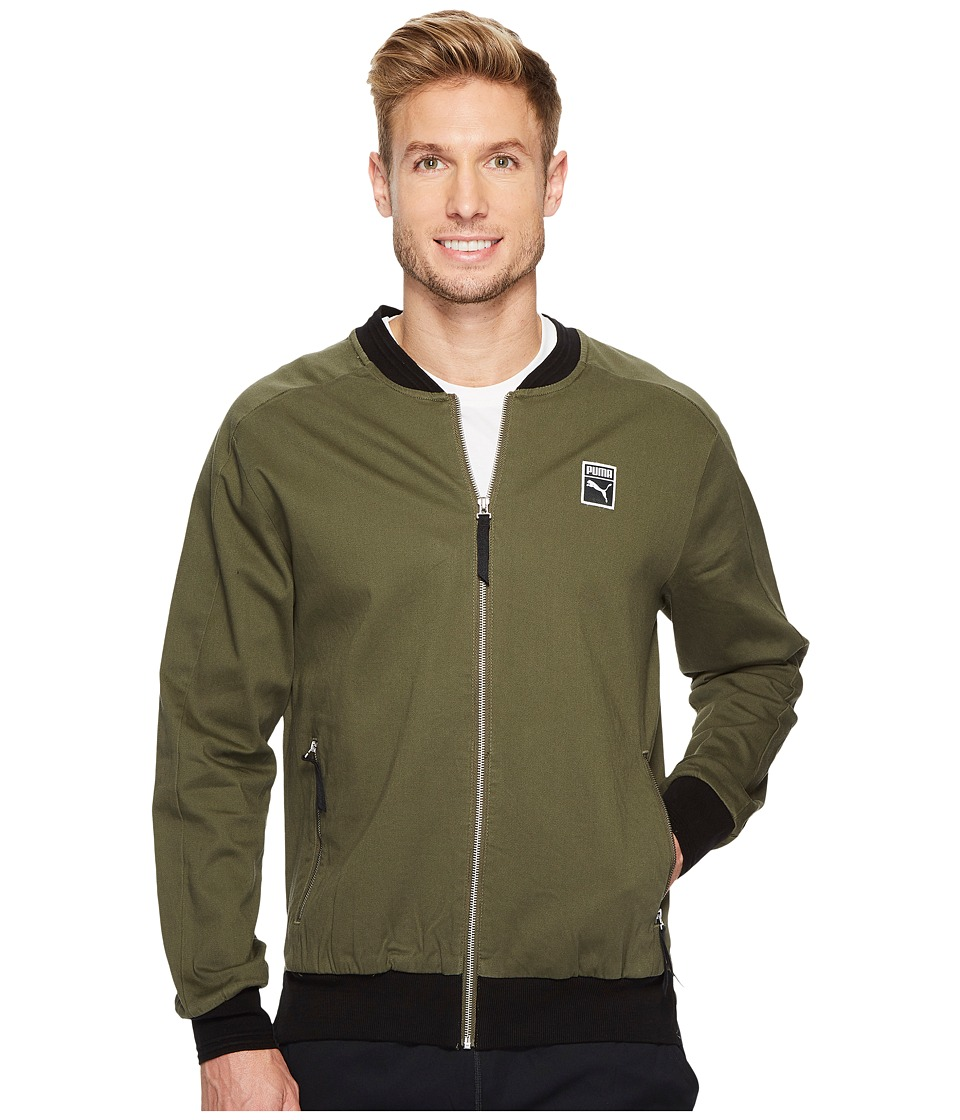 PUMA - Classics + T7 Woven Jacket (Olive Night) Men's Jacket