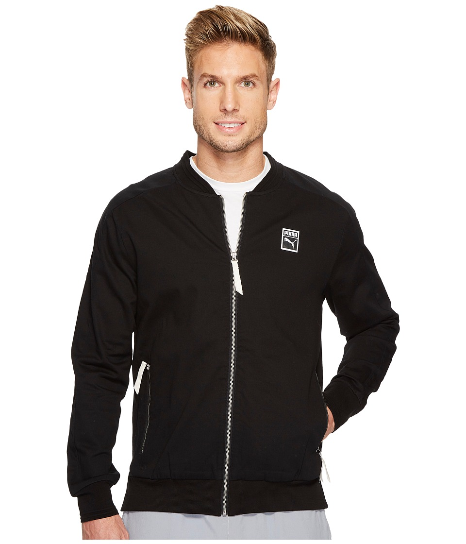 PUMA - Classics + T7 Woven Jacket (PUMA Black) Men's Jacket