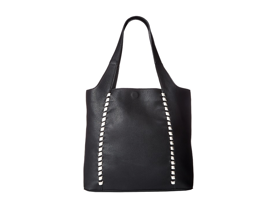 French Connection - Del Tote (Black/White) Tote Handbags