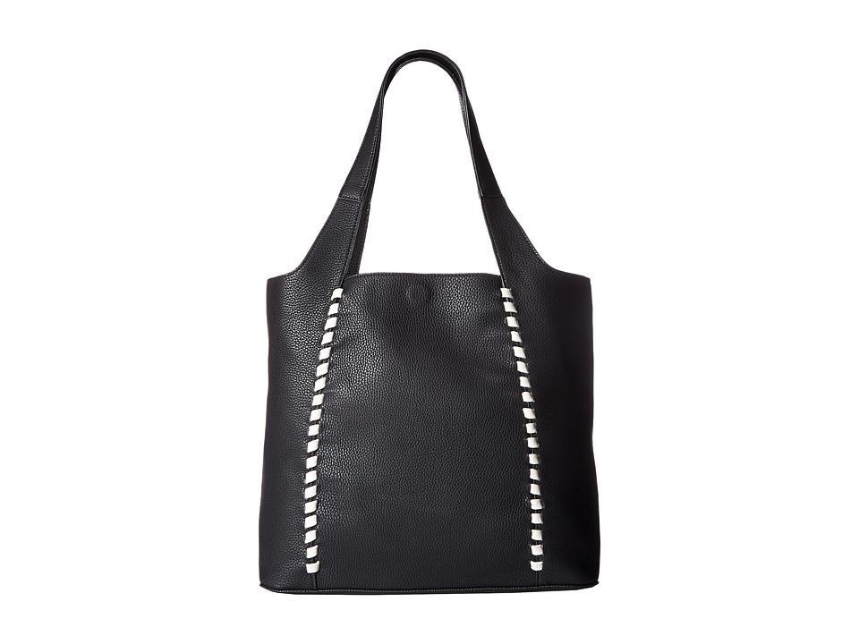 French Connection - Del Tote (Black/White) Tote Handbags
