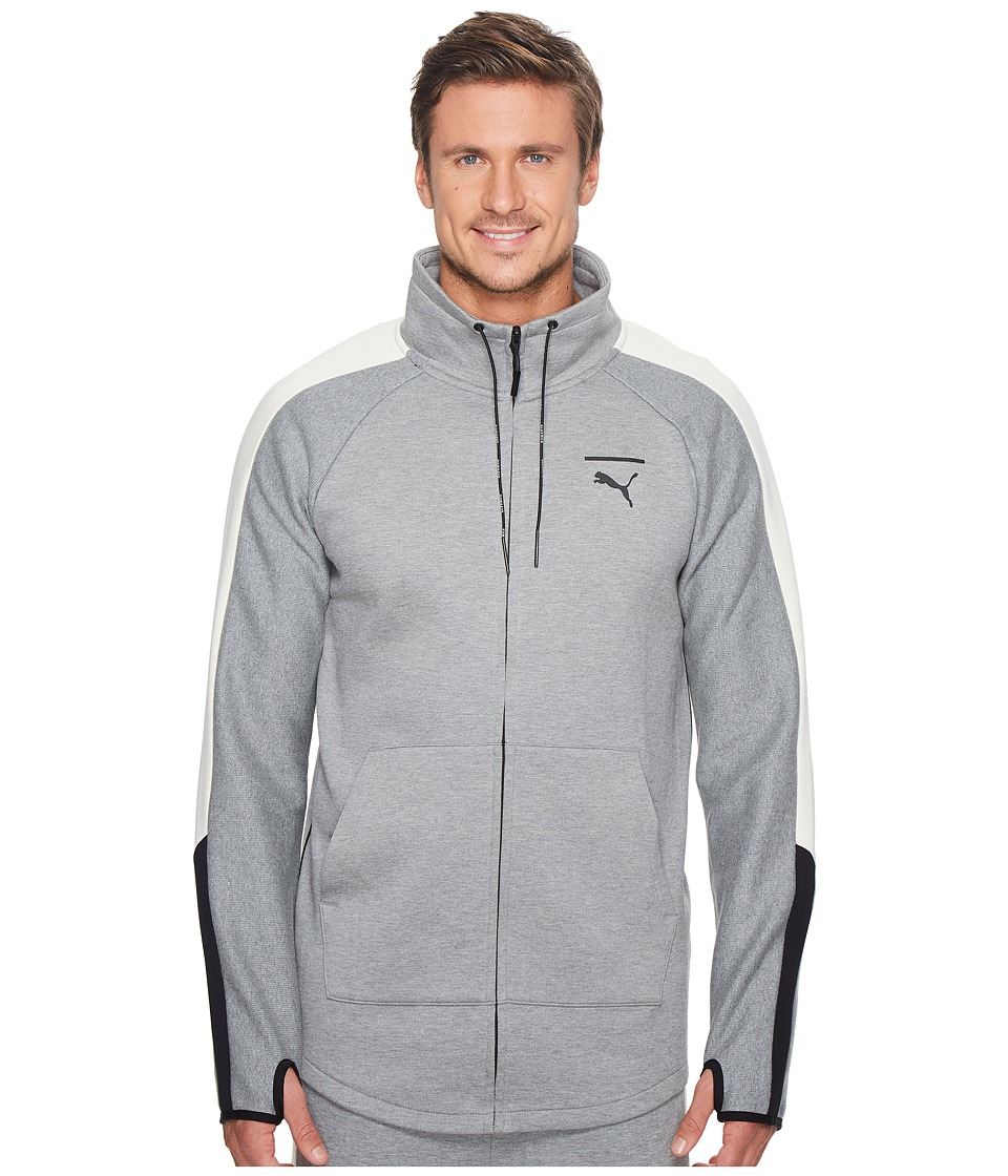 PUMA - Evo T7 Jacket (Medium Gray Heather) Men's Jacket