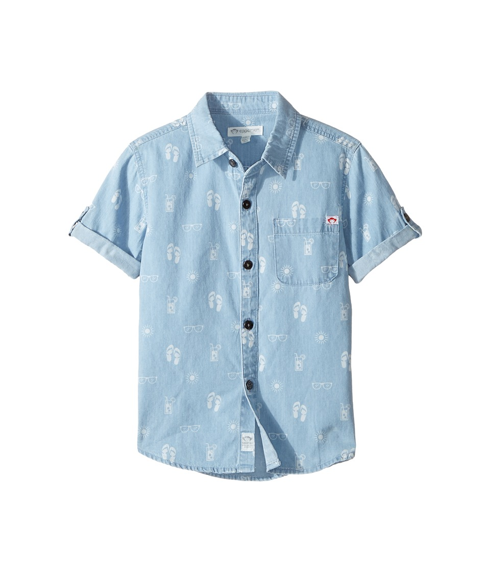 Appaman Kids - Pattern Shirt (Toddler/Little Kids/Big Kids) (Light Blue Chambray) Boy's Short Sleeve Button Up