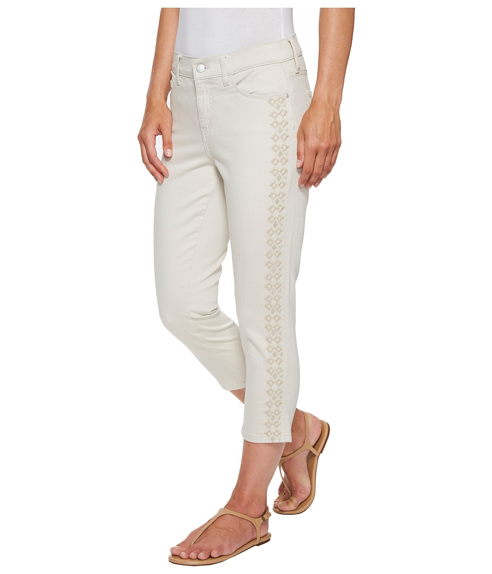 NYDJ - Alina Capris w/ Embroidery in Clay (Clay) Women's Jeans