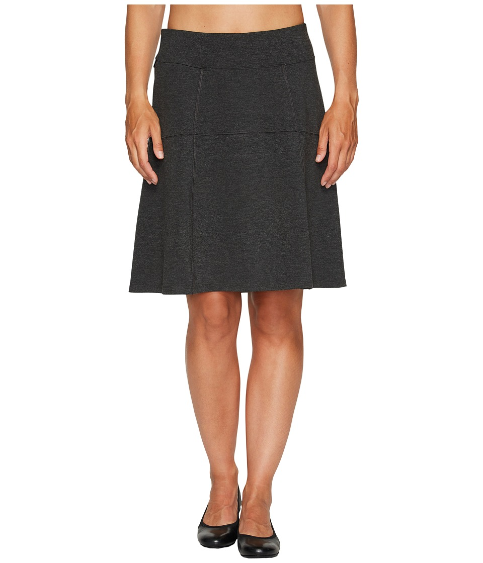 Royal Robbins Lucerne Ponte Swingy Skirt (Charcoal) Women
