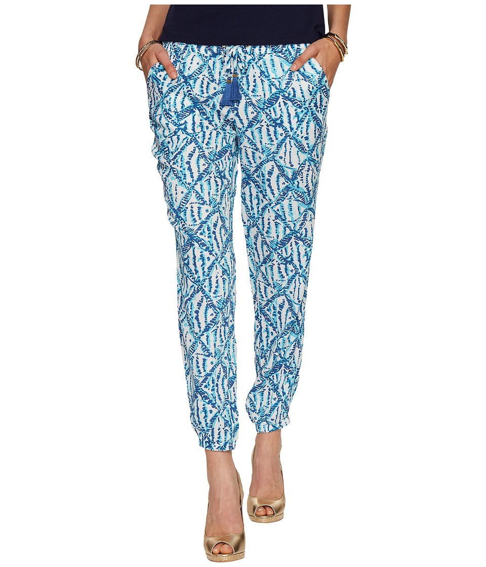 Lilly Pulitzer - Piper Pants (Sparkling Blue Hook Up) Women's Casual Pants