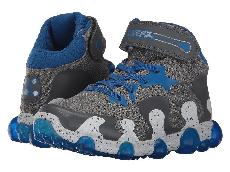 Stride Rite Leepz 2.0 High Top (Little Kid) (Grey/Blue) Boys Shoes