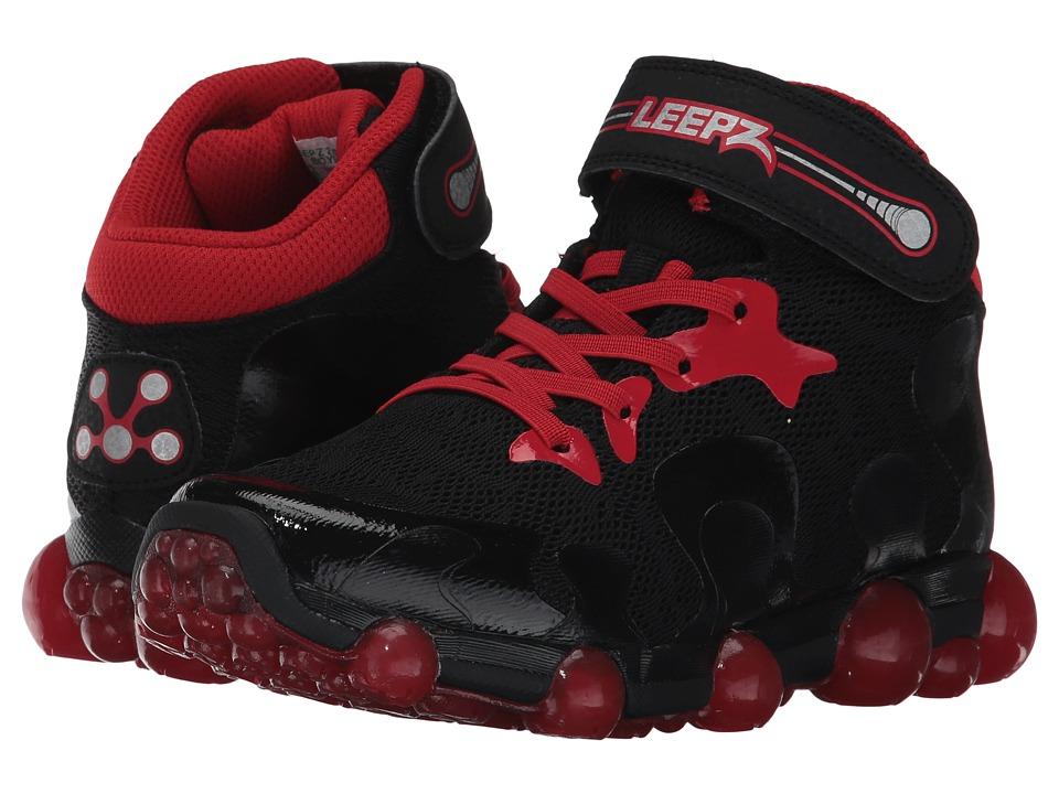 Stride Rite Leepz 2.0 High Top (Little Kid) (Black/Red) Boys Shoes