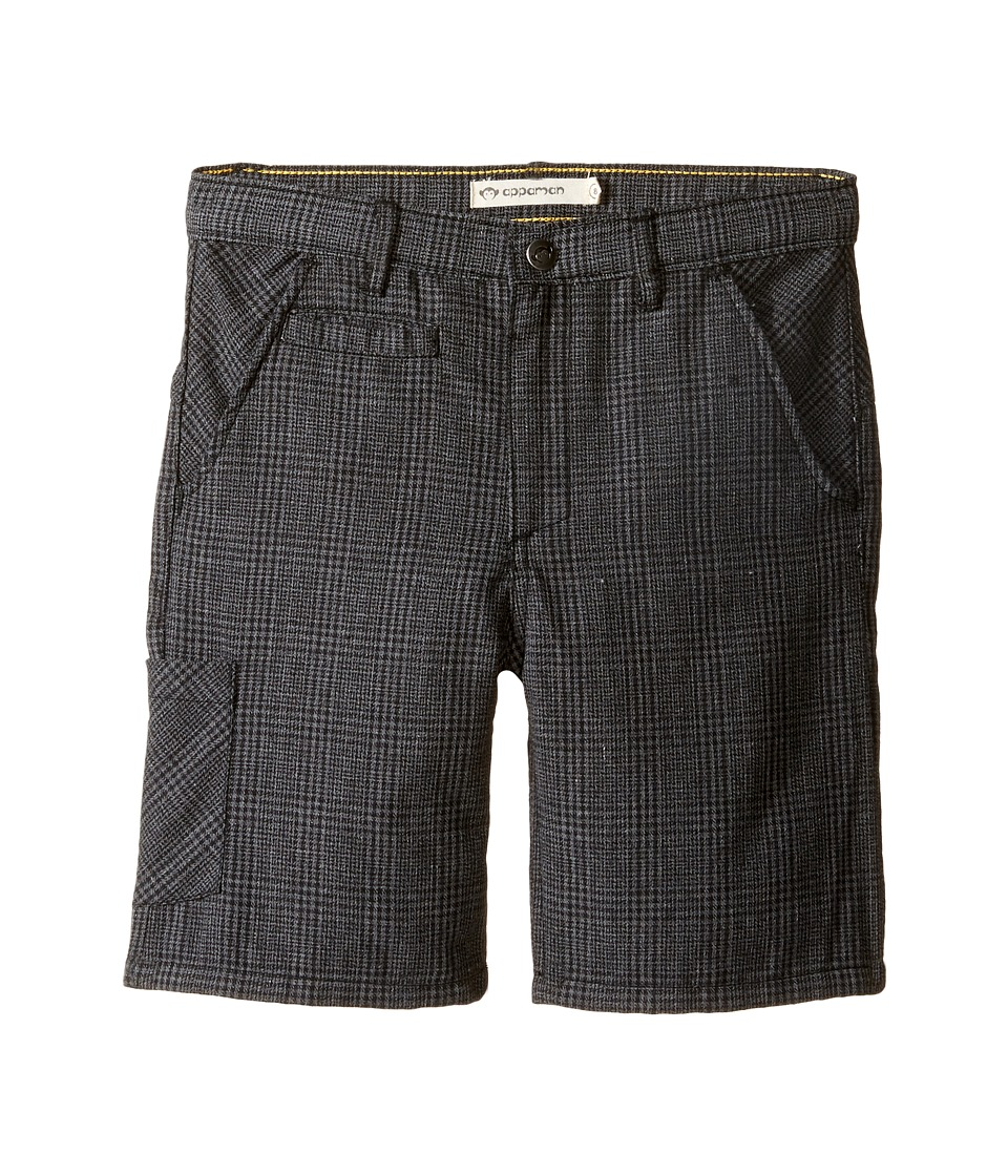 Appaman Kids - Seaside Shorts (Toddler/Little Kids/Big Kids) (Black Plaid) Boy's Shorts