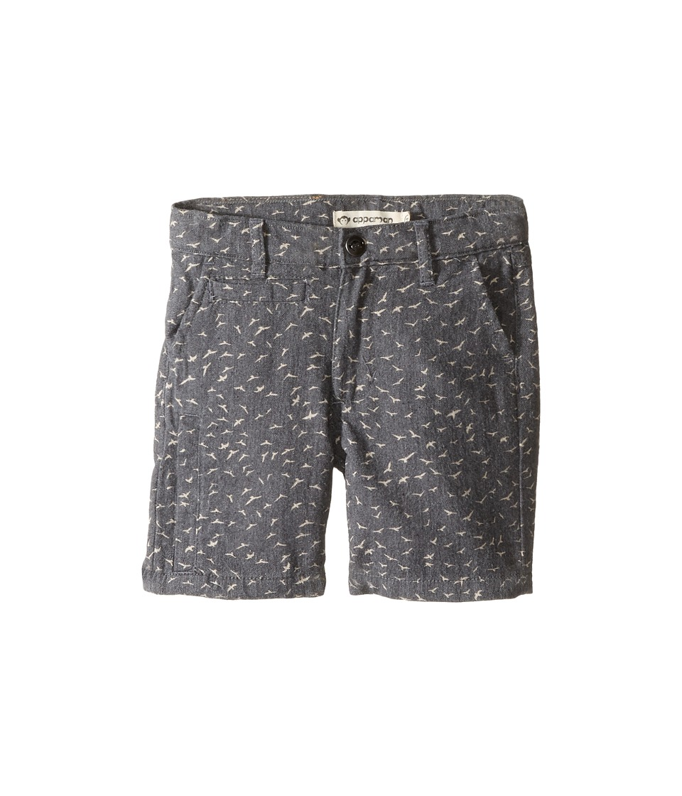 Appaman Kids - Super Soft Coastal Shorts (Toddler/Little Kids/Big Kids) (Birds Grey) Boy's Shorts