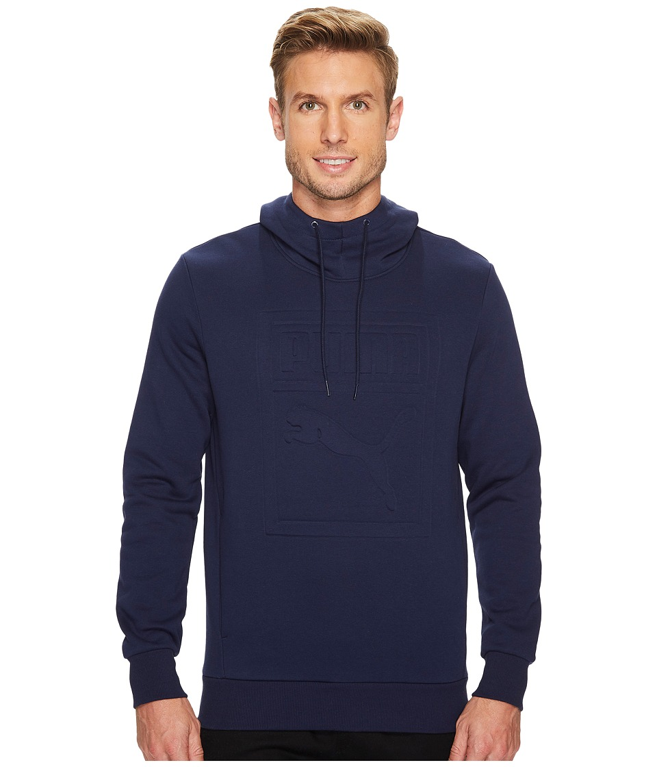 PUMA - Archive Embossed Logo Hoodie (Peacoat) Men's Sweatshirt
