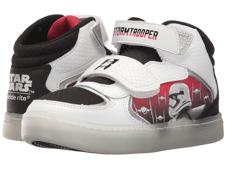 Stride Rite - Star Wars Storm Trooper Galaxy (Little Kid) (White/Black) Boys Shoes