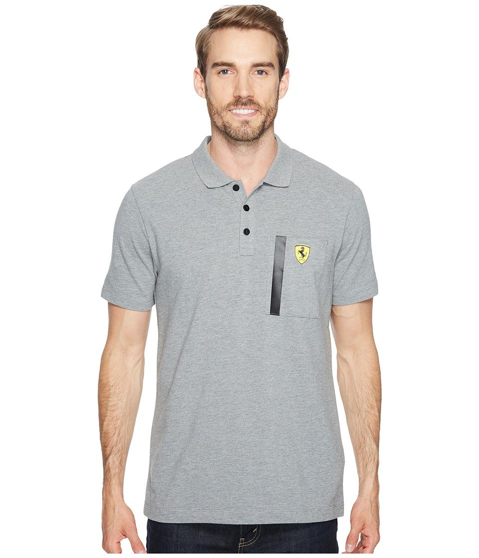 PUMA - SF Polo (Medium Gray Heather) Men's Clothing