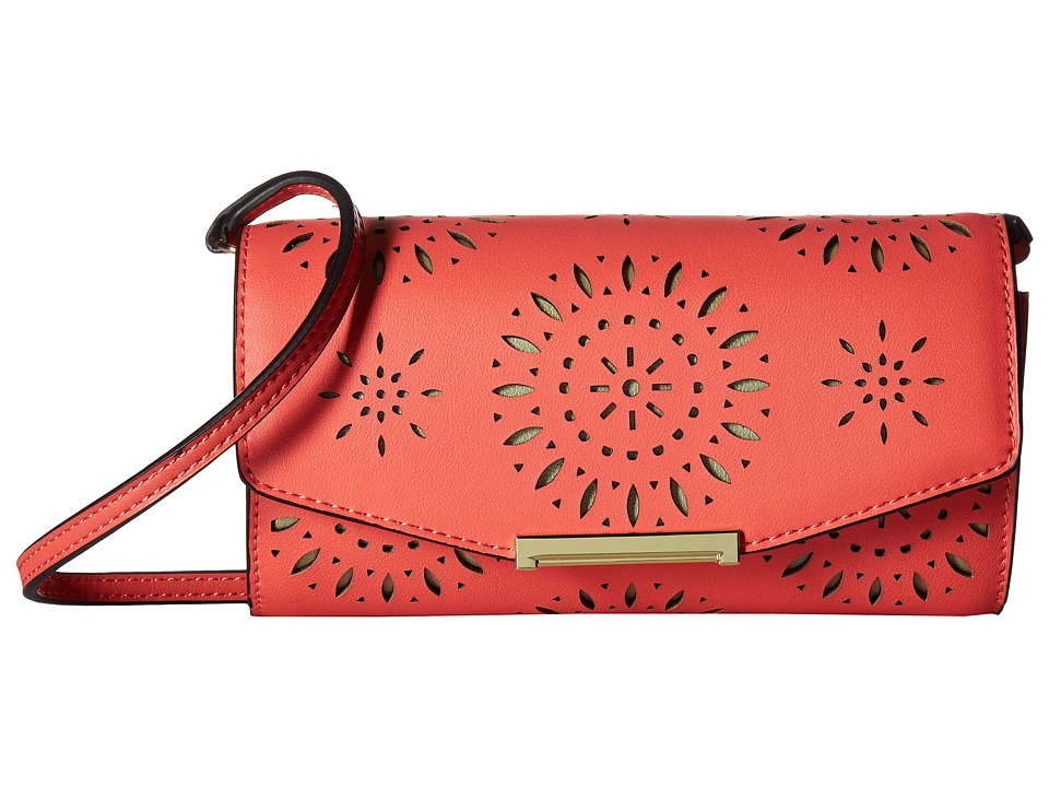 Ivanka Trump - Mara Crossbody Wallet (Flamingo Lasercut) Cross Body Handbags
