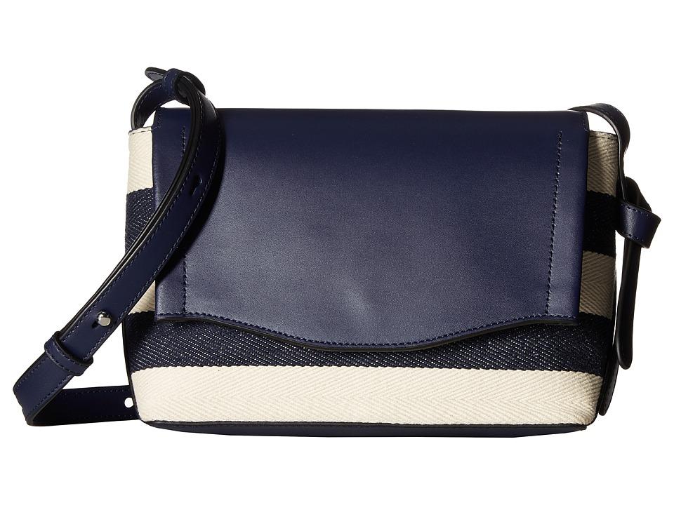 Ivanka Trump - Gramercy Crossbody (Eclipse Canvas Stripe) Cross Body Handbags