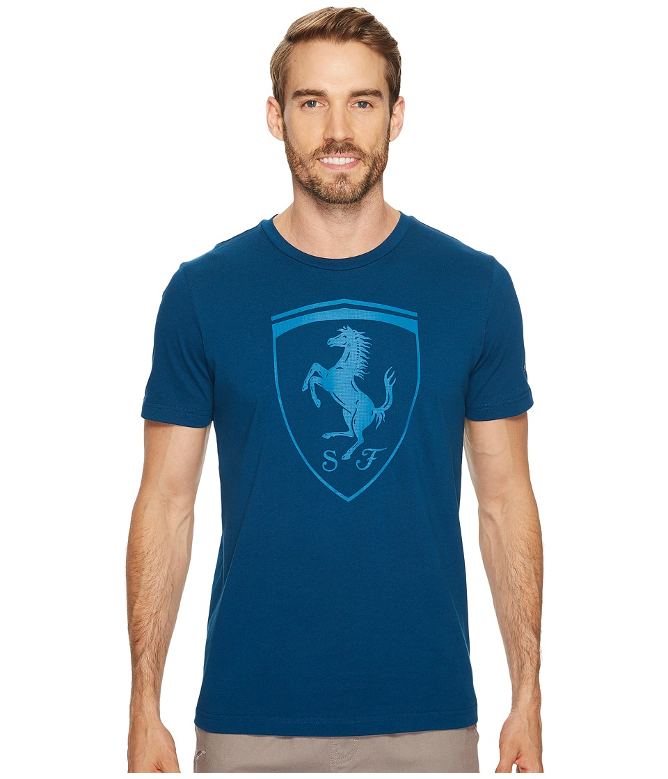 PUMA - Ferrari Big Shield Tee (Sailor Blue) Men's T Shirt