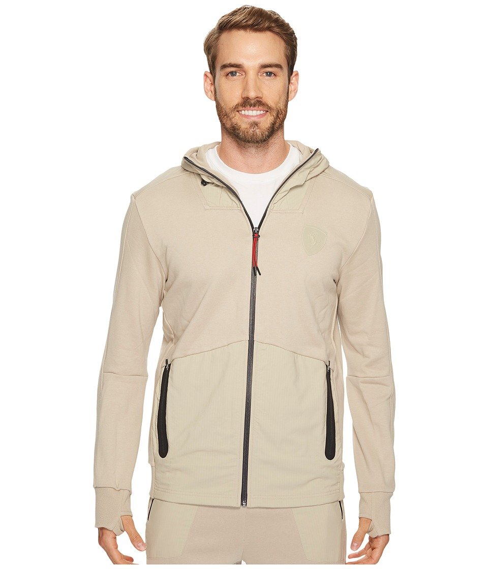 PUMA - Ferrari Hooded Sweat Jacket (Pure Cashmere) Men's Coat