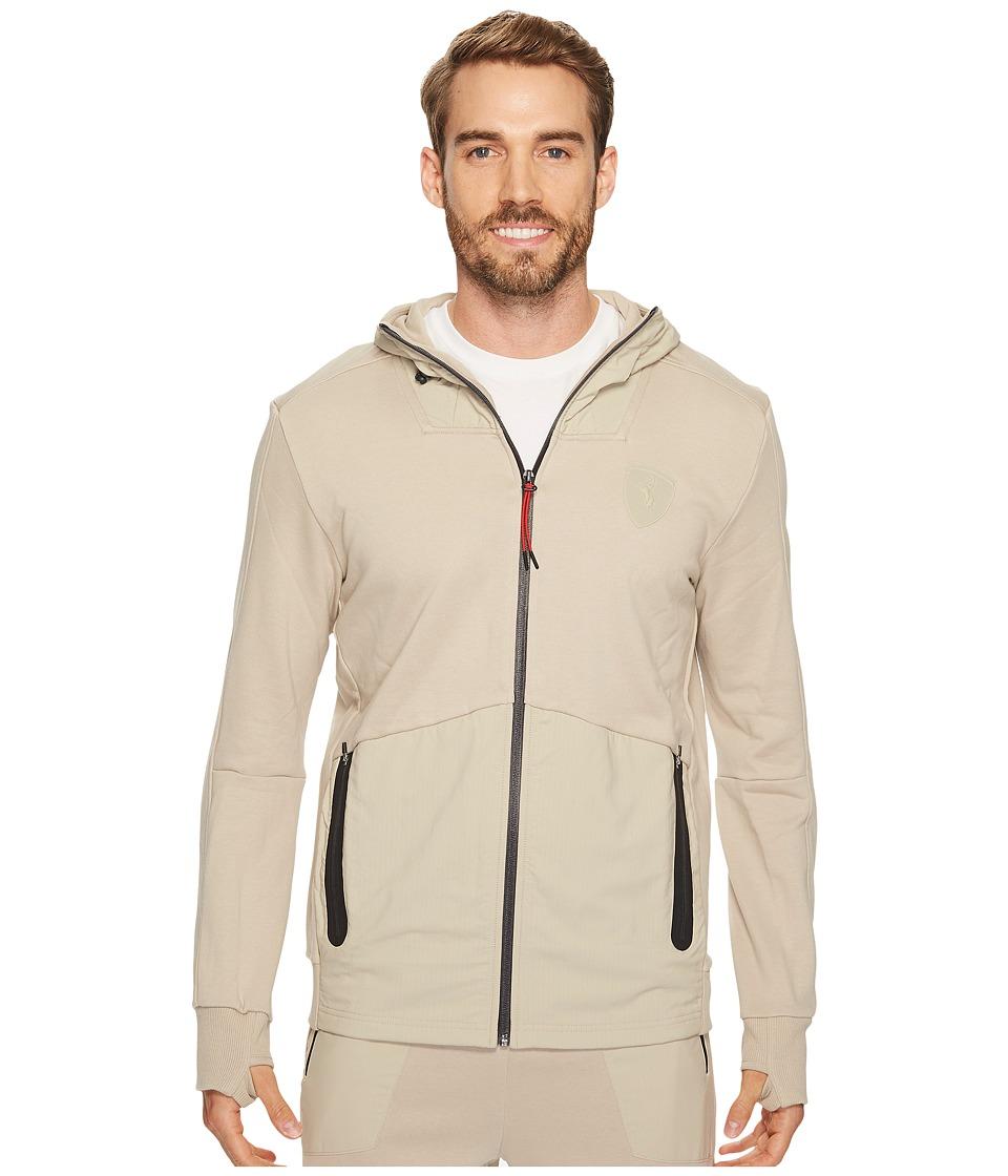 PUMA - Ferrari Hooded Sweat Jacket (Pure Cashmere) Men's Coat