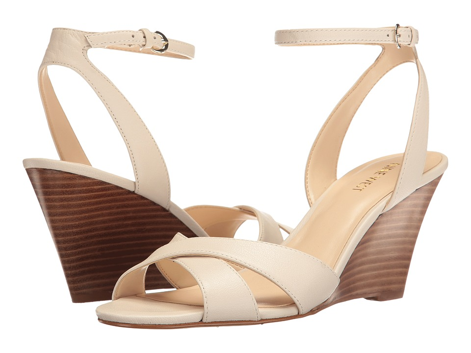 Nine West - Kami 9 (Off-White Leather) Women's Shoes