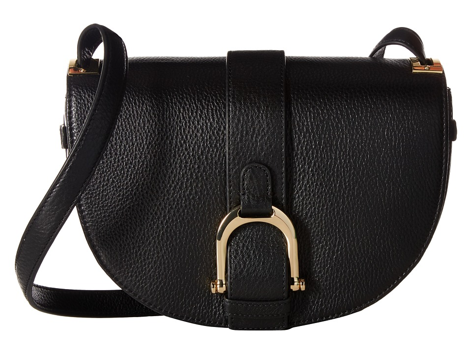 Sam Edelman - Jeanne Half Moon Saddle (Black) Handbags