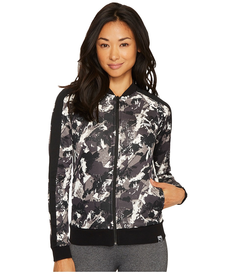 PUMA - AOP Archive T7 Track Jacket (PUMA Black) Women's Coat