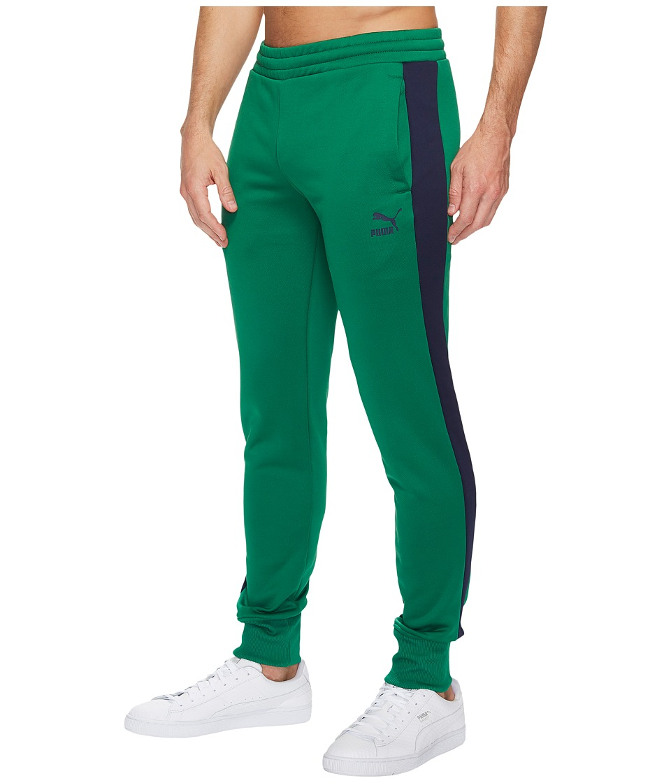 PUMA - Archive T7 Track Pants (Olive Night) Men's Casual Pants