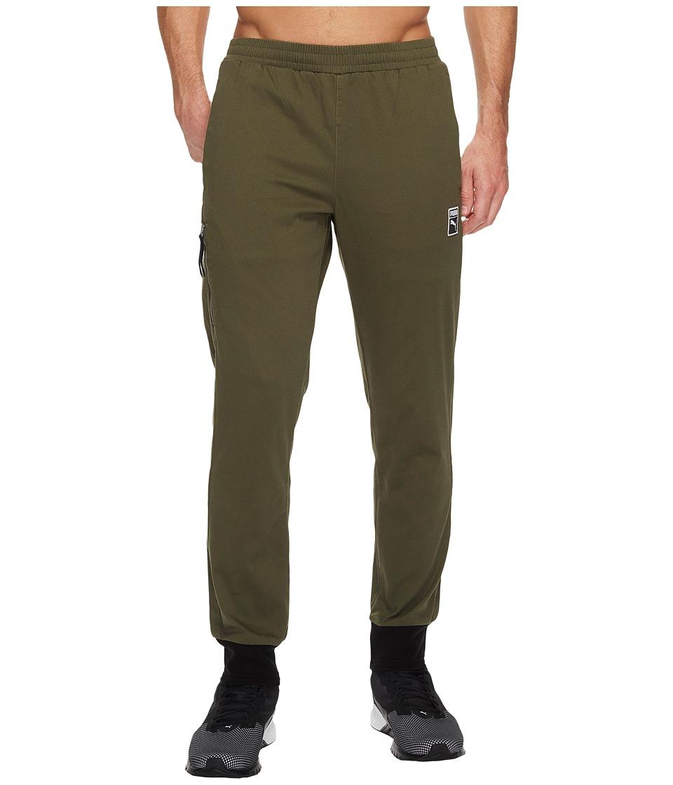 PUMA - Classic + T7 Woven Pants (Olive Night) Men's Casual Pants