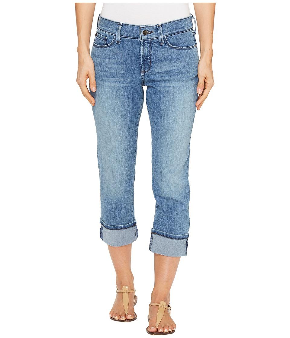NYDJ - Dayla Wide Cuff Capris in Jet Stream (Jet Stream) Women's Jeans