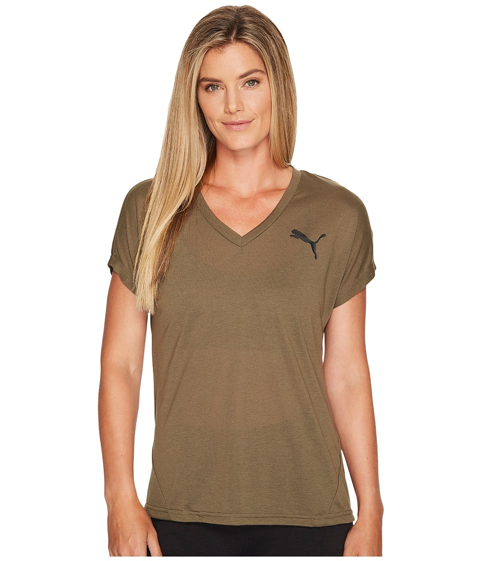 PUMA Elevated Sporty Tee (Olive Night) Women