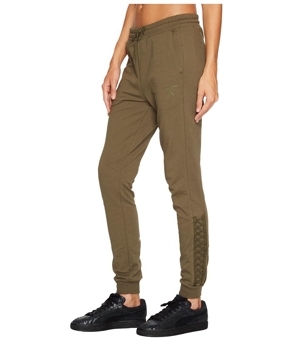 PUMA - Lacing Pants (Olive Night) Women's Casual Pants