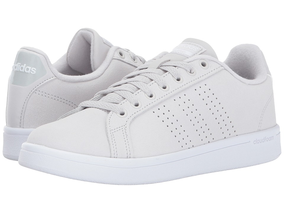 adidas - Cloudfoam Advantage Clean (Grey One/Grey One/Footwear White) Women's Court Shoes