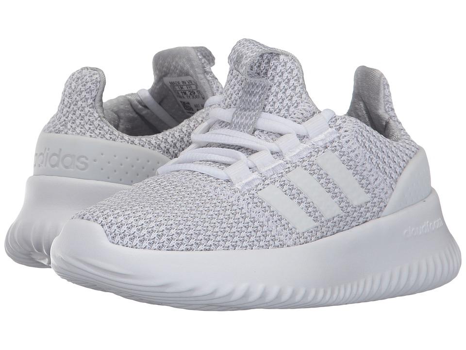 adidas Kids - Cloudfoam Ultimate (Little Kid/Big Kid) (Footwear White/Footwear White/Grey Two) Kids Shoes