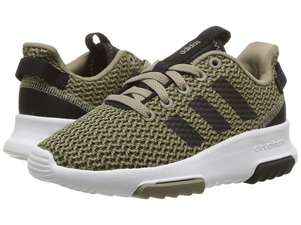 adidas Kids - Cloudfoam Racer TR (Little Kid/Big Kid) (Trace Cargo/Core Black/Trace Olive) Kids Shoes