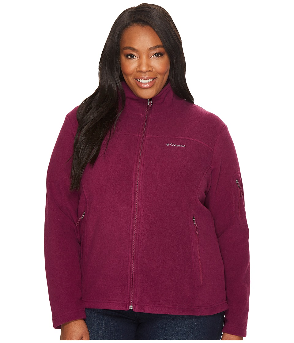 Columbia Plus Size Fast Trektm II Full Zip Fleece Jacket (Dark Raspberry) Women