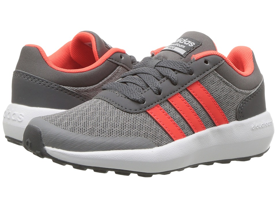 adidas Kids - Cloudfoam Race (Little Kid/Big Kid) (Grey Three/Solar Red/Grey Five) Kids Shoes