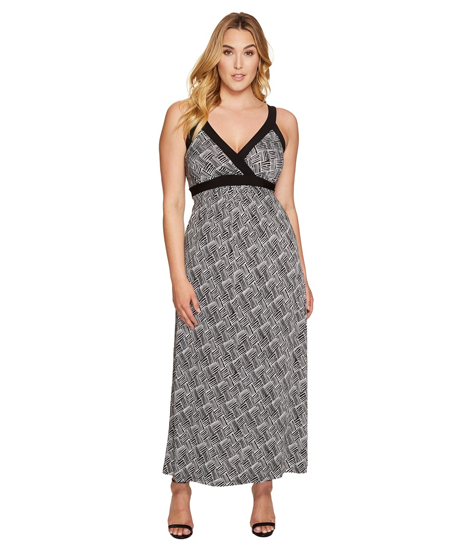 Karen Kane Plus - Plus Size Banded Maxi Dress (Print) Women's Dress