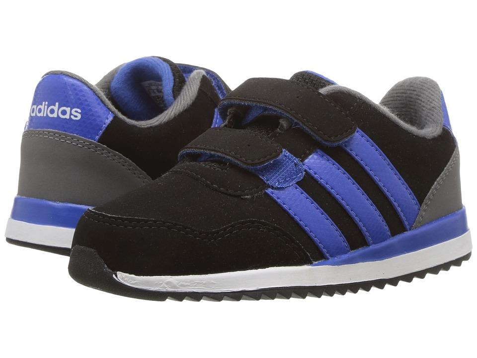 adidas Kids - V Jog CMF (Infant/Toddler) (Core Black/Blue/Grey Four) Kids Shoes