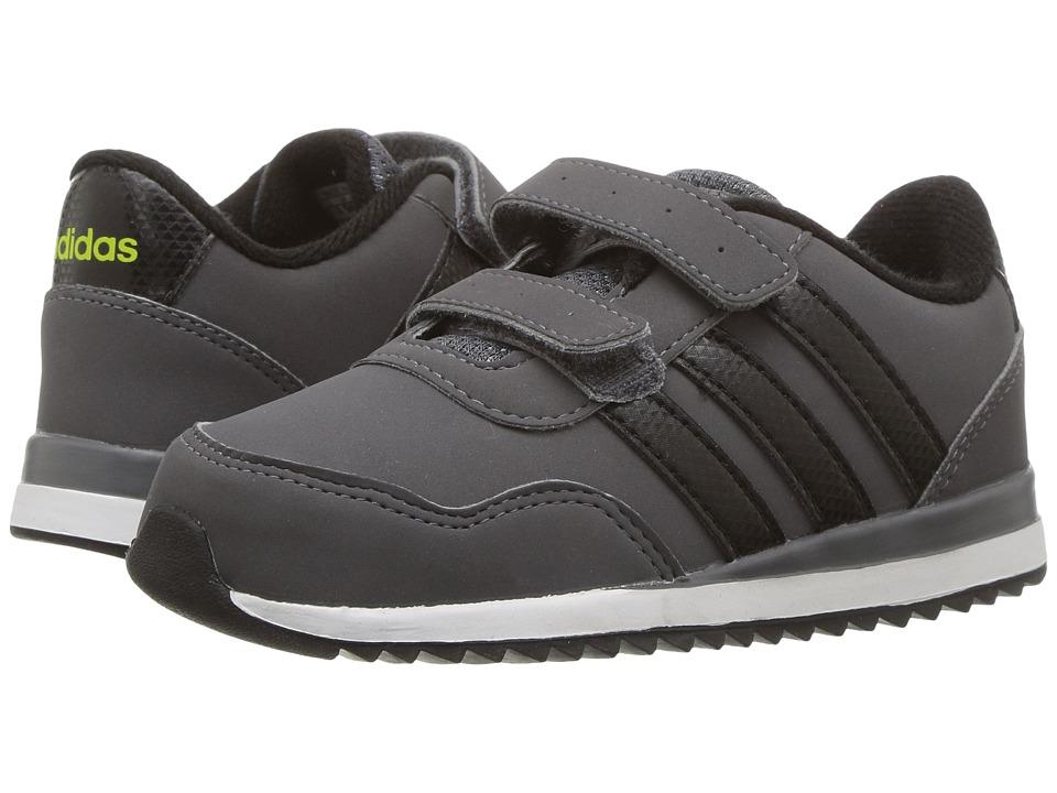 adidas Kids - V Jog CMF (Infant/Toddler) (Grey Five/Core Black/Semi Solar Yellow) Kids Shoes