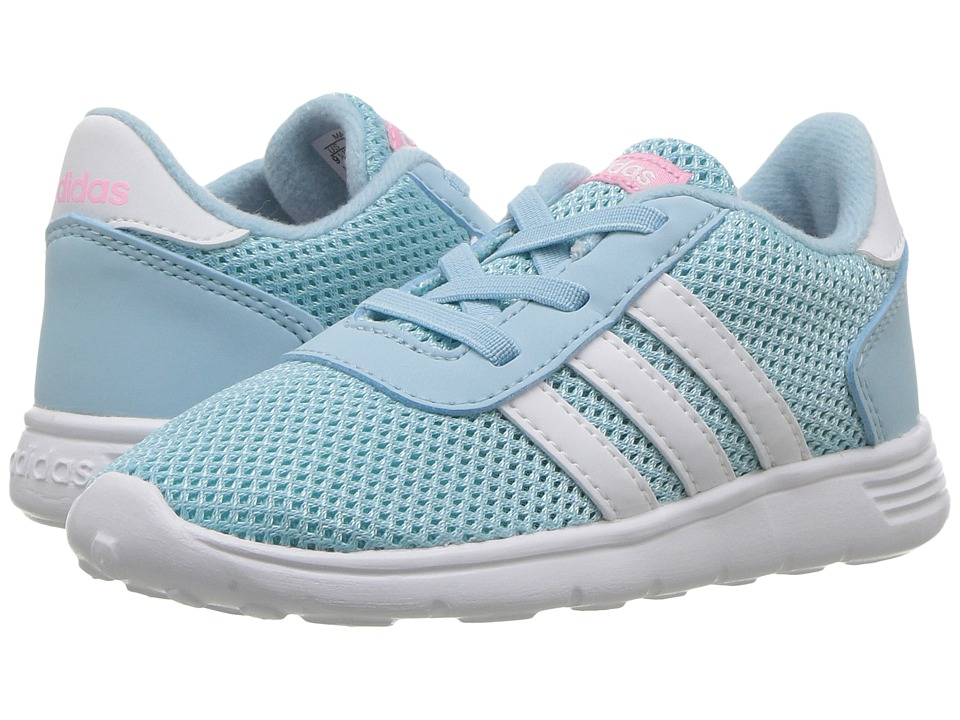 adidas Kids Lite Racer (Infant/Toddler) (Icy Blue/Footwear White/Energy Aqua) Kids Shoes