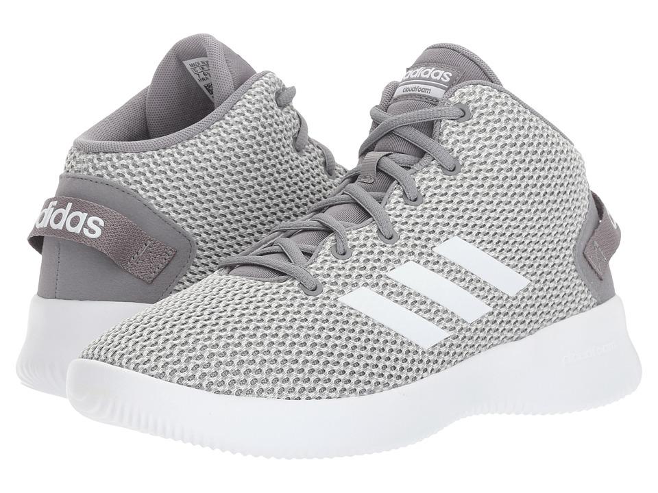 adidas Kids Cloudfoam Refresh Mid (Little Kid/Big Kid) (Grey One/Footwear White/Grey Three) Kids Shoes
