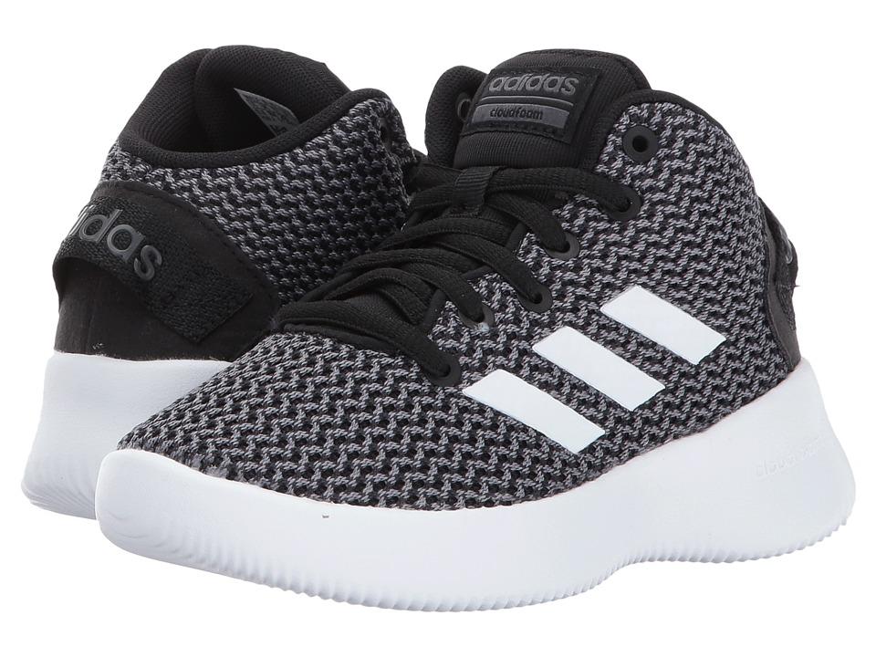 adidas Kids Cloudfoam Refresh Mid (Little Kid/Big Kid) (Core Black/Footwear White/Grey Five) Kids Shoes