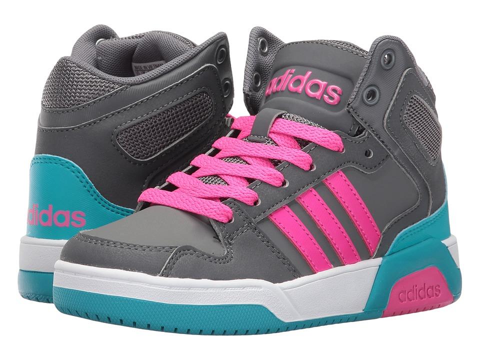 adidas Kids - BB9TIS (Little Kid/Big Kid) (Grey Four/Shock Pink/Grey Five) Kids Shoes