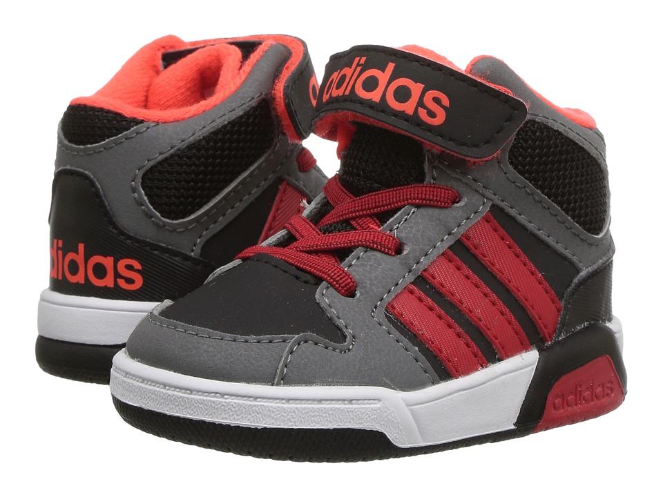 adidas Kids - BB9TIS (Infant/Toddler) (Core Black/Scarlet/Solar Red) Kids Shoes