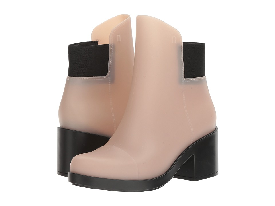 Melissa Shoes Elastic Boot (Beige/Black) Women