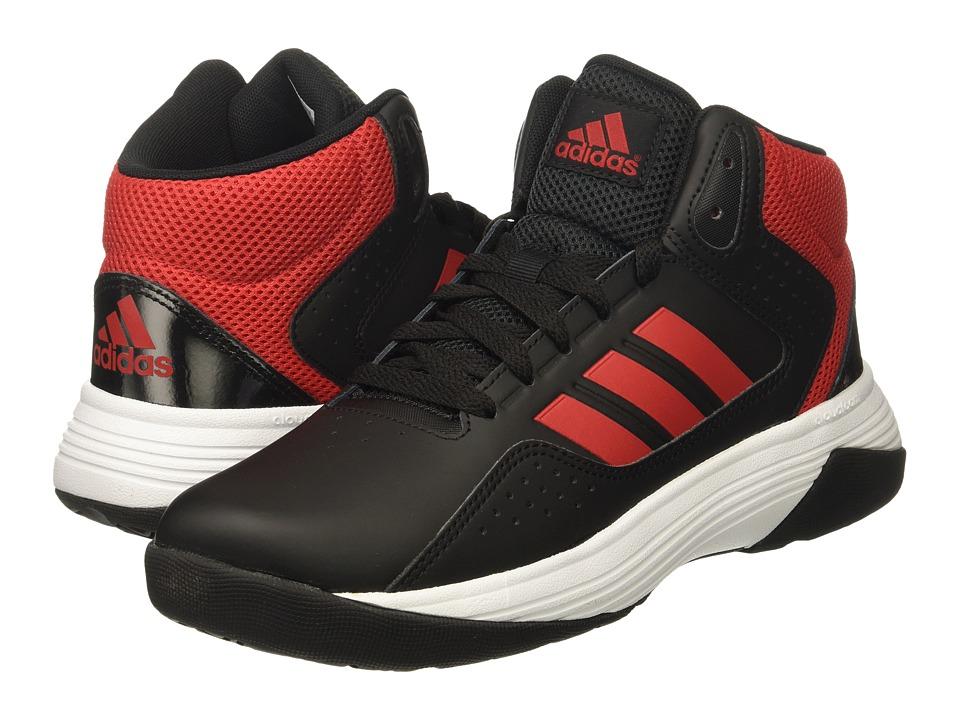 adidas Kids Cloudfoam Ilation Mid (Little Kid/Big Kid) (Core Black/Scarlet/Footwear White) Kids Shoes