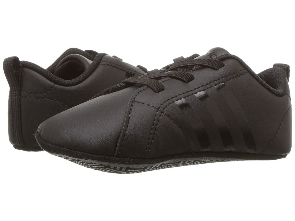 adidas Kids - VS Advantage Crib (Infant/Toddler) (Core Black/Core Black/Core Black) Kids Shoes