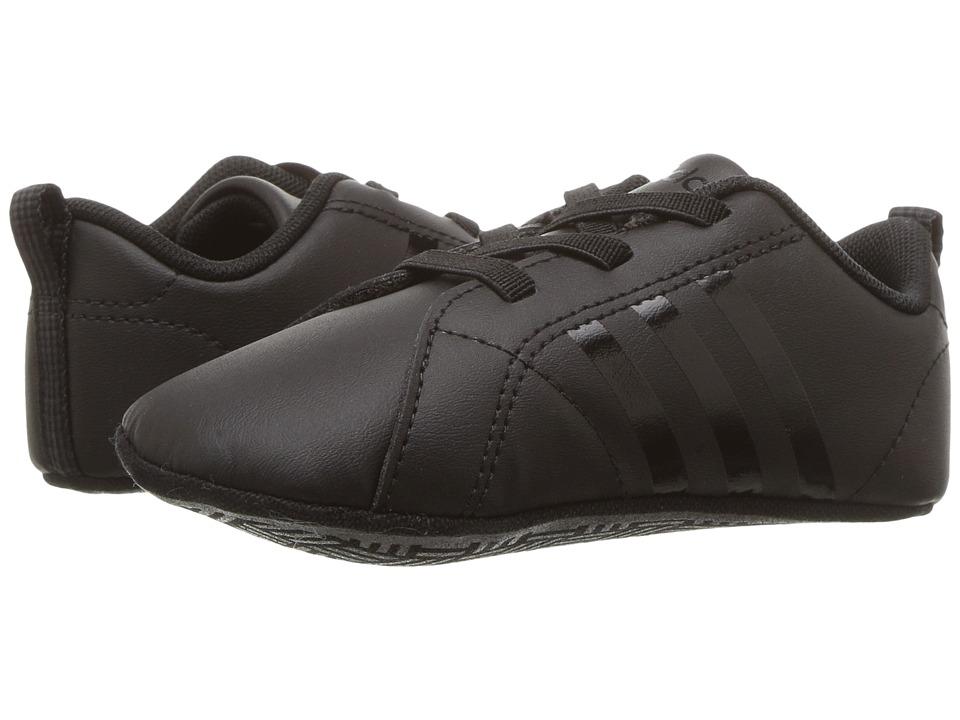 adidas Kids - VS Advantage Crib (Infant/Toddler) (Core Black/Core Black/Core Black) Kids Shoes