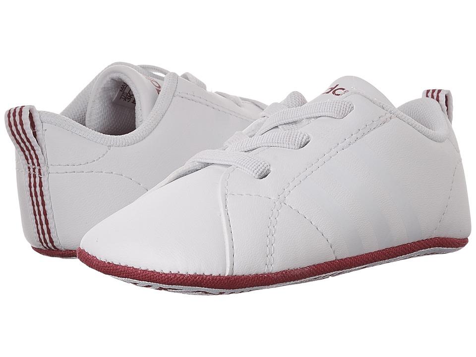 adidas Kids VS Advantage Crib (Infant/Toddler) (Footwear White/Footwear White/Bold Pink) Kids Shoes