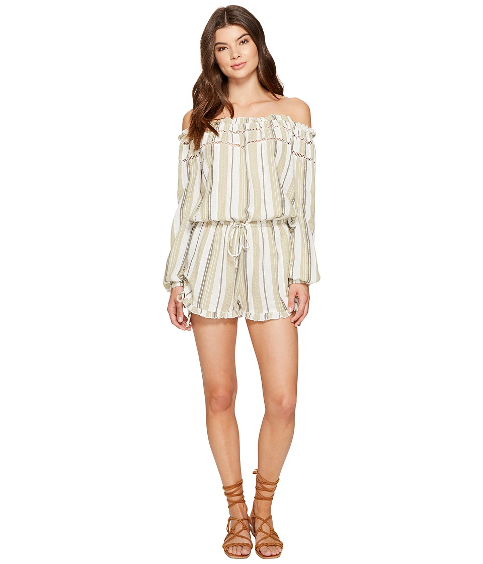 Roxy - Anthem Cold Shoulder Romper (Tea Tobago Stripe) Women's Jumpsuit & Rompers One Piece